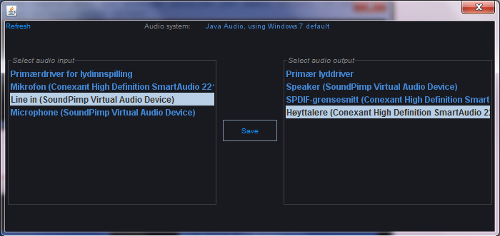 Audio Line selector for SoundPimp Stereo sound enhancer
