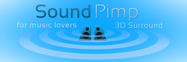 SoundPimp computer audio enhancer - 3d surround